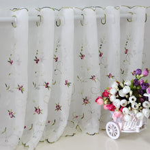 Load image into Gallery viewer, Short Curtain Three-dimensional Embroidery Rose Coffee Curtain