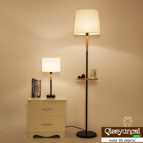 floor lamp American living room bedroom study bed solid wood table lamp