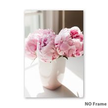 Load image into Gallery viewer, Canvas Painting Nordic Decor Elegant Peony Flower