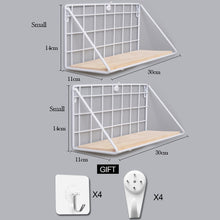 Load image into Gallery viewer, Wooden Iron Wall Shelf Wall