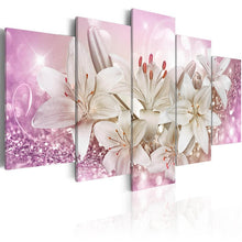 Load image into Gallery viewer, Canvas Prints Pictures Living Room Wall Art 5 Pieces Lilies Flowers Painting Framed