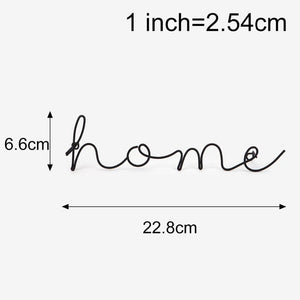 Wire Letters Home Decor Interior Wall Sign