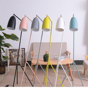 Modern American iron painted E27 LED adjustable floor lamp