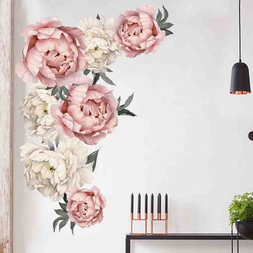 Peony Rose Flowers Wall Sticker Home Decor decals