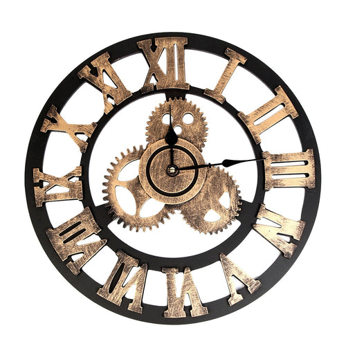 Large wall clock Industrial Style Vintage Clock European Steampunk Gear