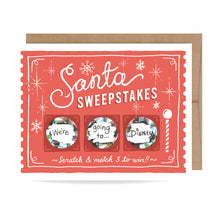 Load image into Gallery viewer, Santa Sweepstakes Card