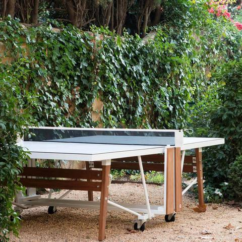 RS Barcelona RS Folding White Outdoor Table Tennis