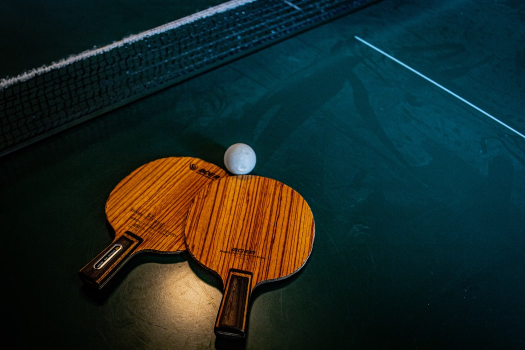 Ping Pong pads and ball