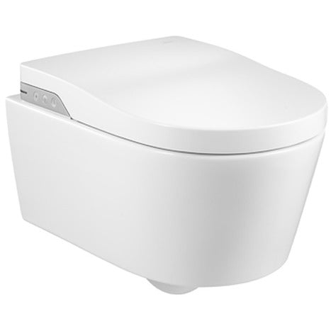 Roca Inspira In-Wash® - Vitreous china Rimless wall-hung smart toilet