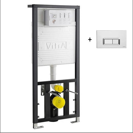 Vitra Concealed Cistern WC Frame for wall hung Toilets with dual flush plate