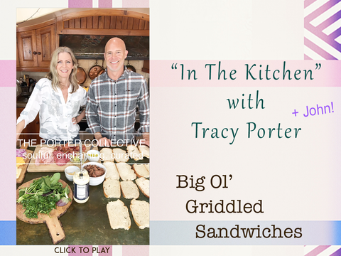 In the kitchen with Tracy porter and John