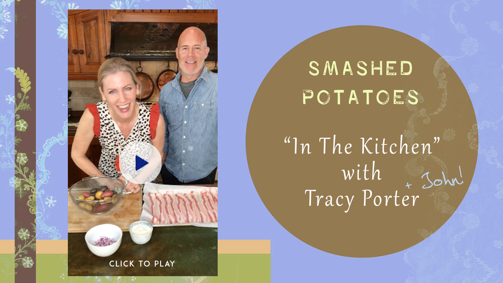 Smashed Potatoes Video In The Kitchen with Tracy (and John)