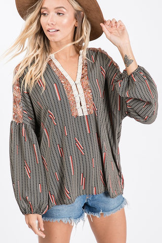 MIDNIGHT GEMMA BLOUSE