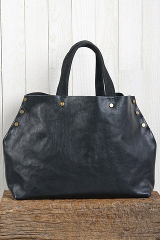 OBSIDIAN GROVE LEATHER TOTE