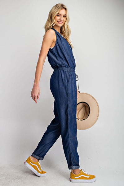 LOVE STRUCK DENIM JUMPSUIT