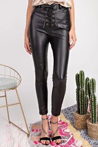 RAVEN LUXE VEGAN LEATHER PANTS