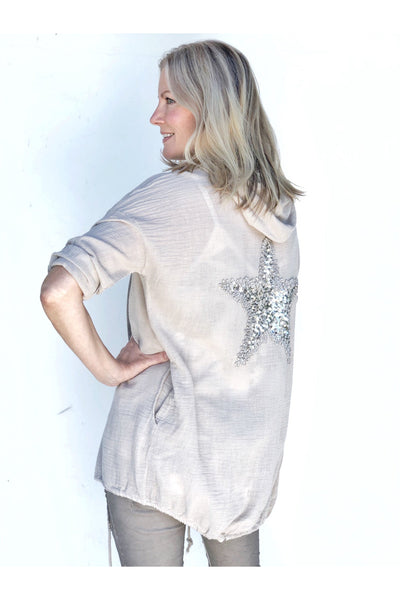 STARLIT HOODED CARDIGAN