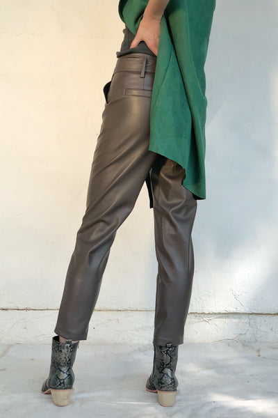 MOCHA GAVRIEL ECO LEATHER PANTS