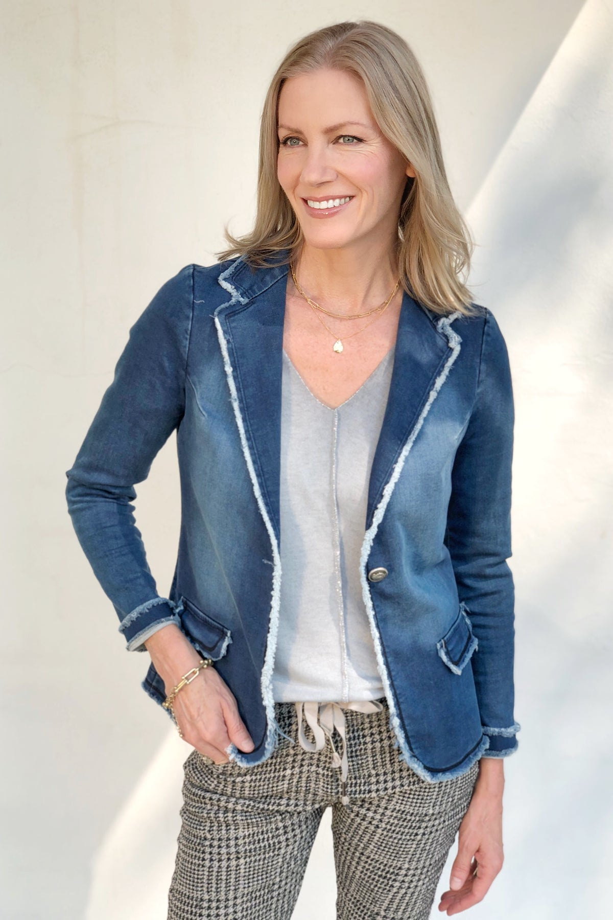 VERGE DENIM BLAZER