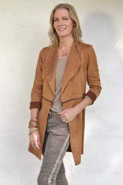WHISKEY SUEDE JACKET