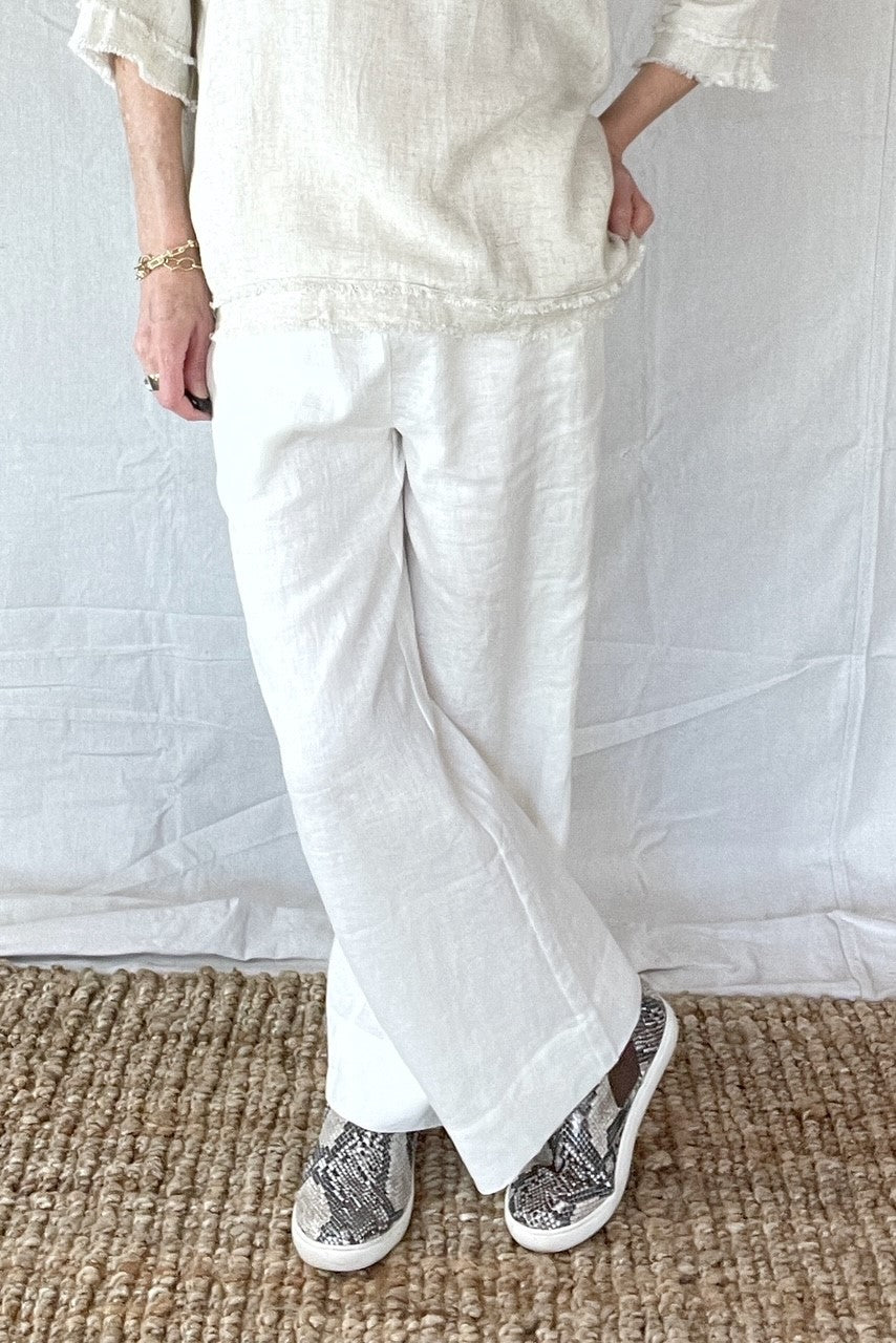 LAURETTE LINEN PANTS