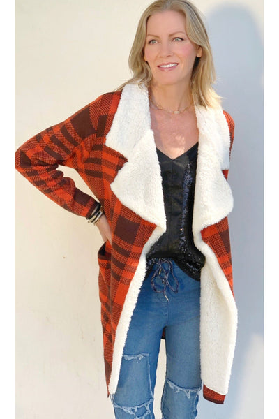 RED WOLF CARDIGAN
