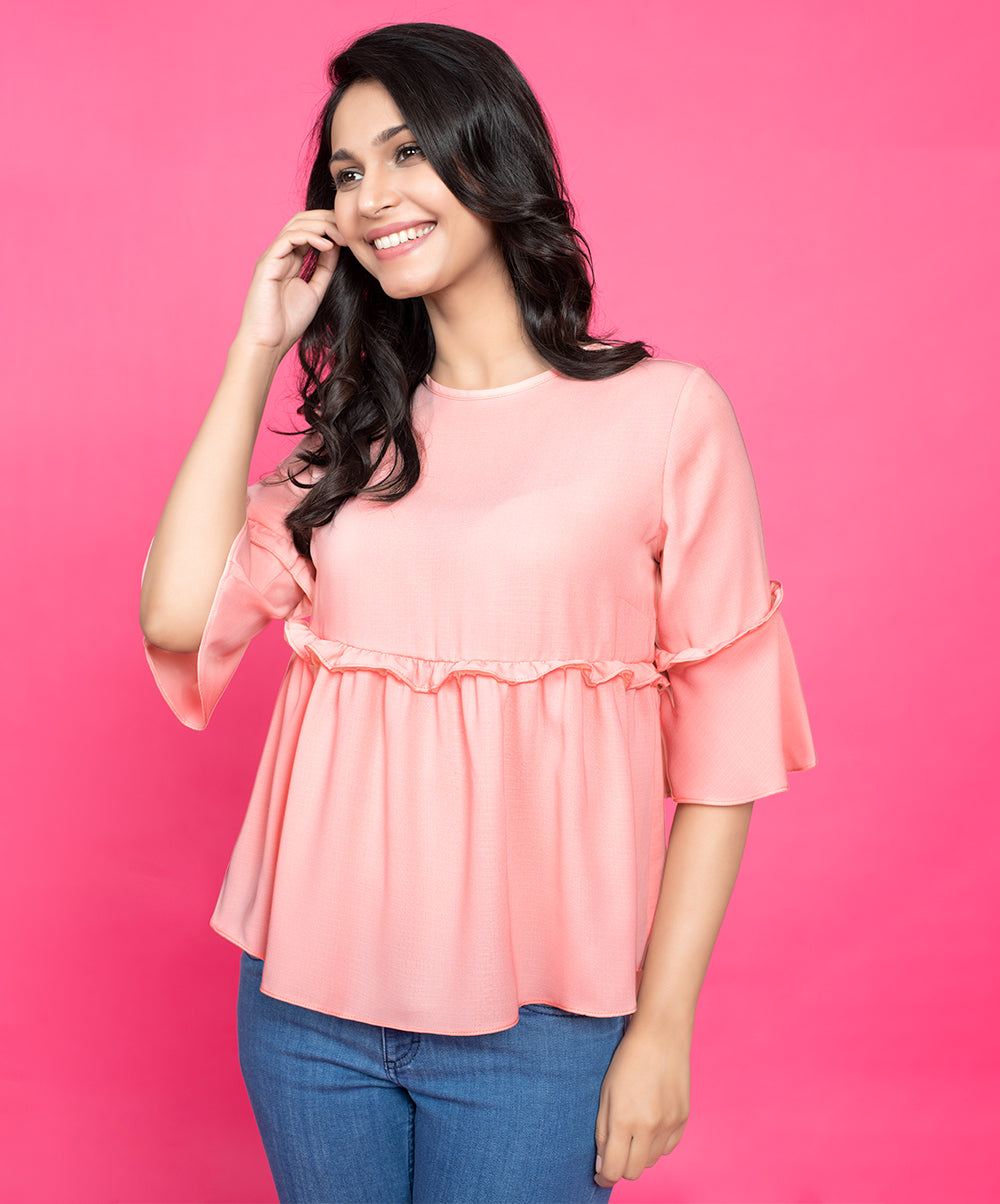 Frilled Tesla Top