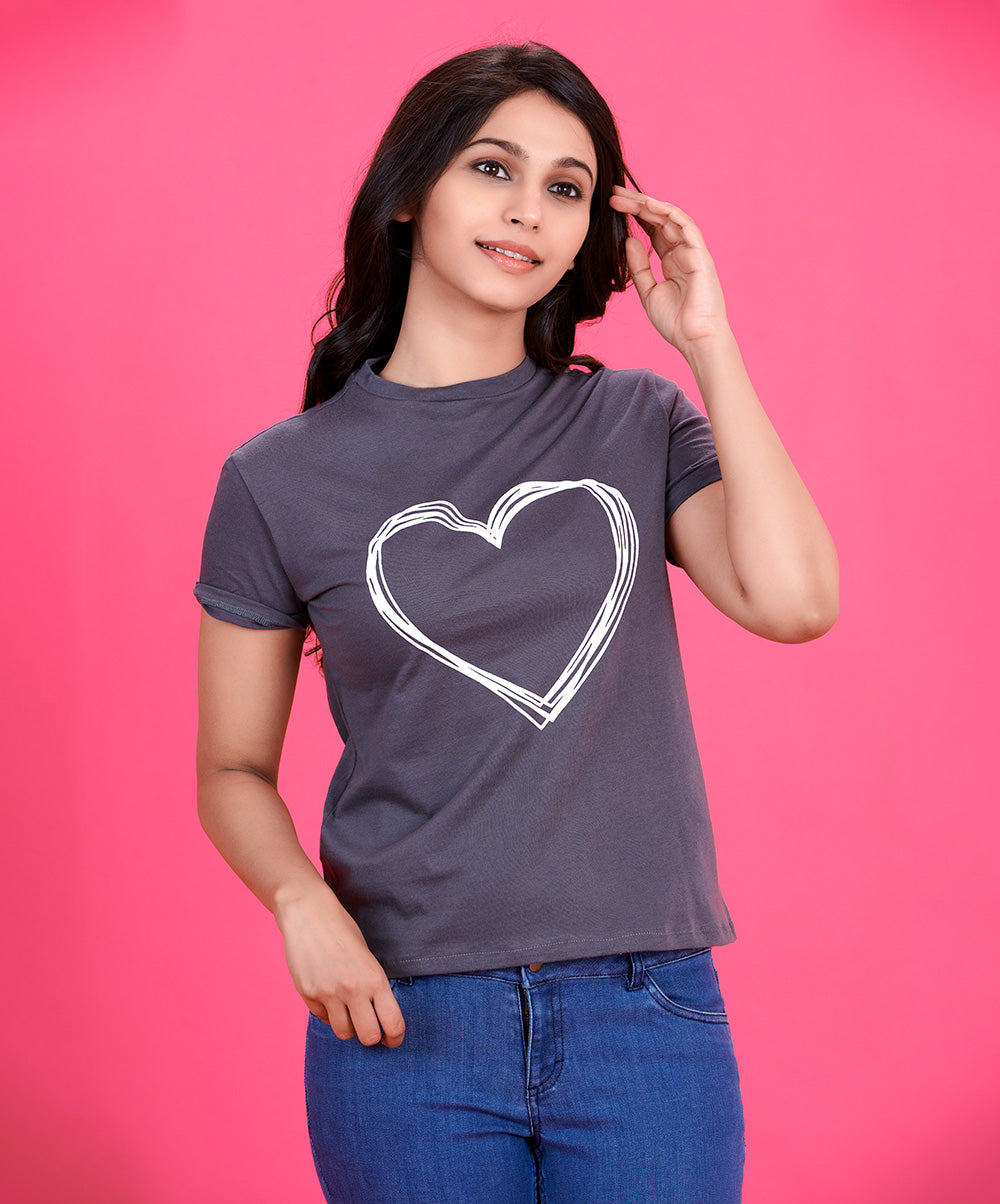 Heart Swing Printed T-Shirt