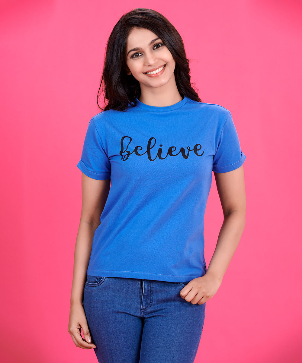 Believe Printed T-Shirt