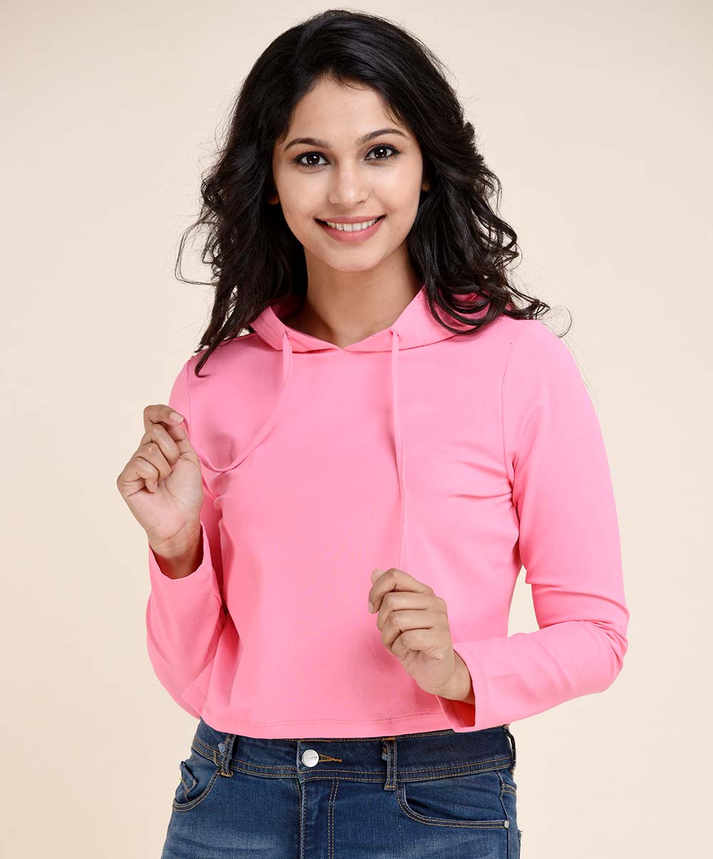 Ice Pink Casual Hoodie