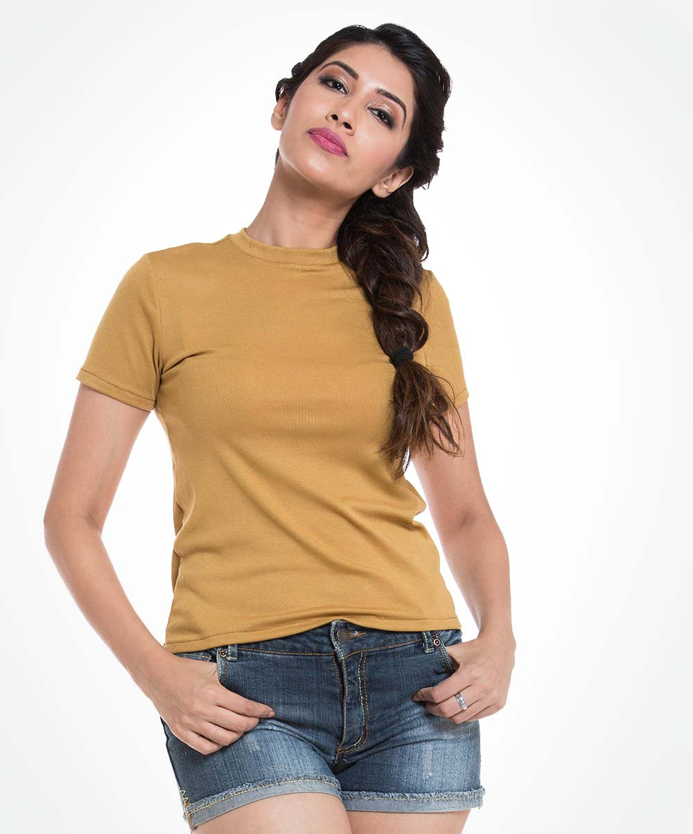 Mustard Back Bow T-shirt