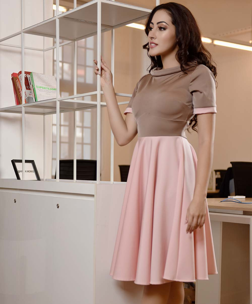 Light Pink Flared Dress