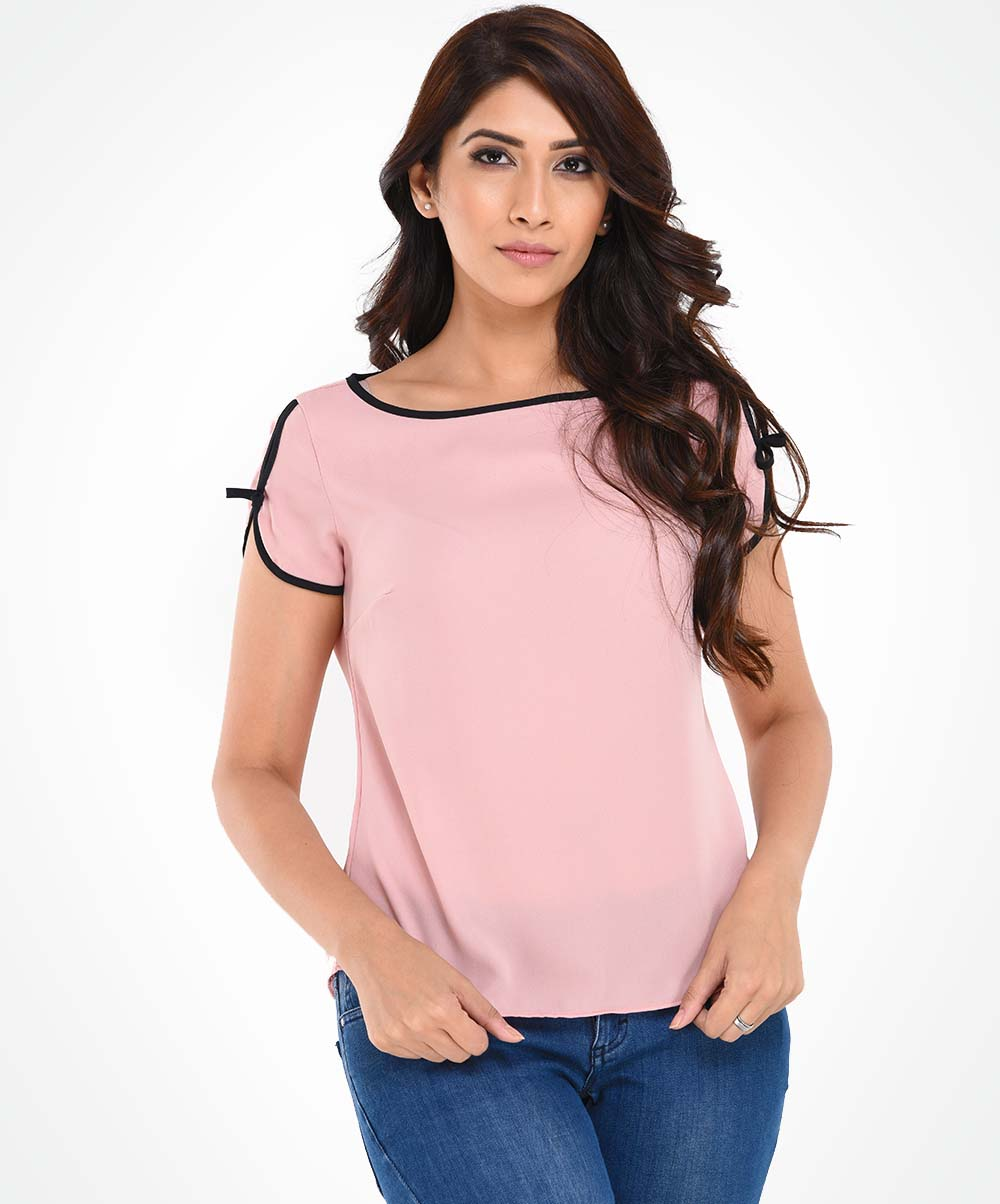 Pastel Pink Casual Top