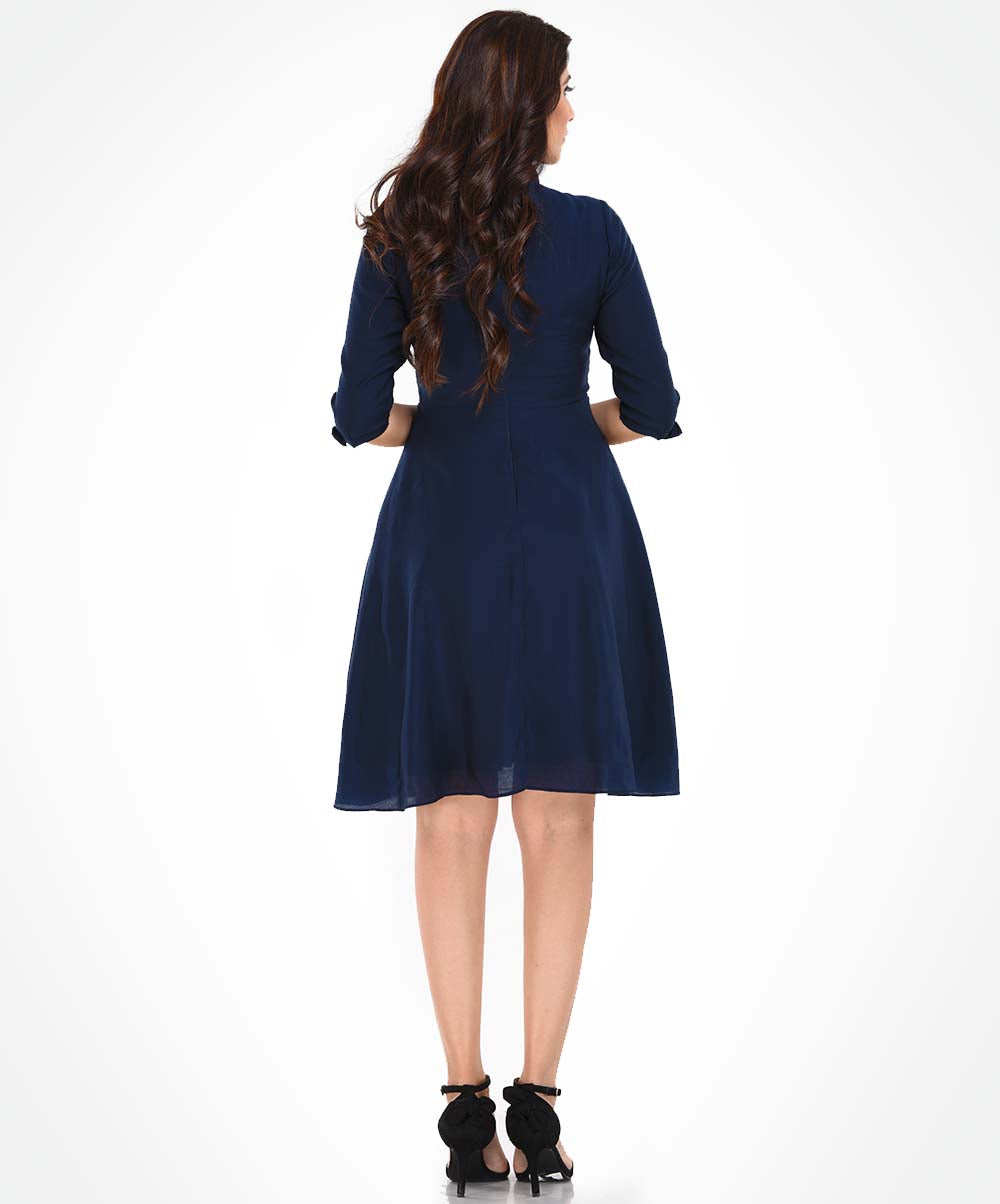 Front Side Button Detailed Dress