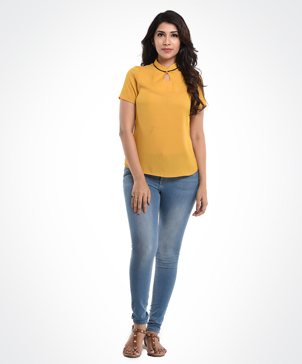 Mustard Work Wear Top