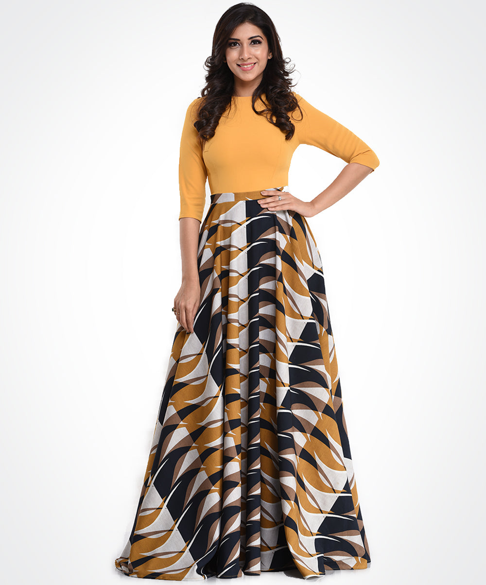 Combo Mix Printed Maxi Dress