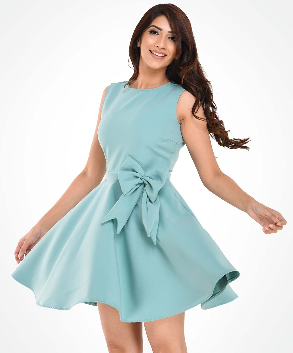 Nora Bow Detailed Dress