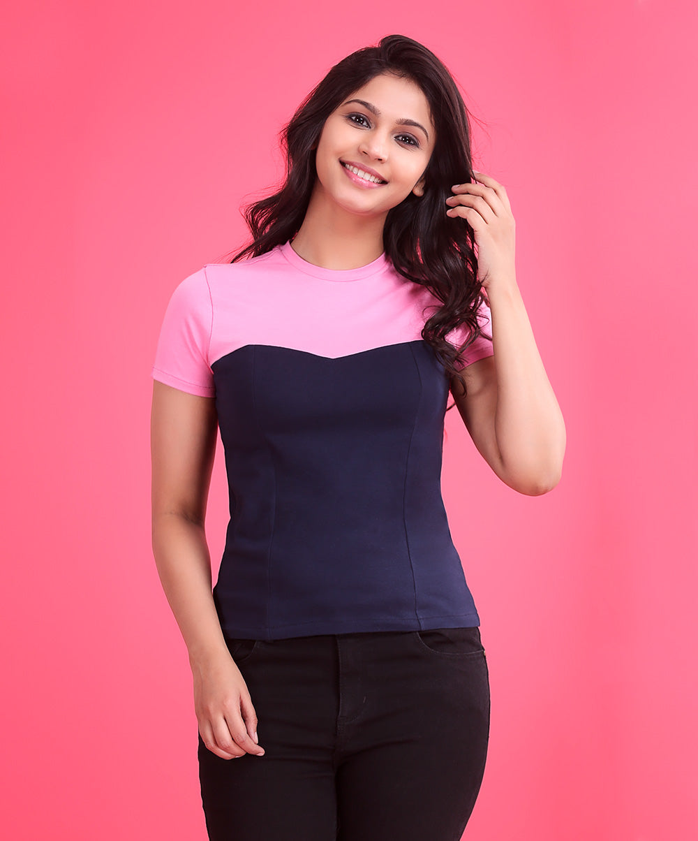 Two Tone Casual T-Shirt