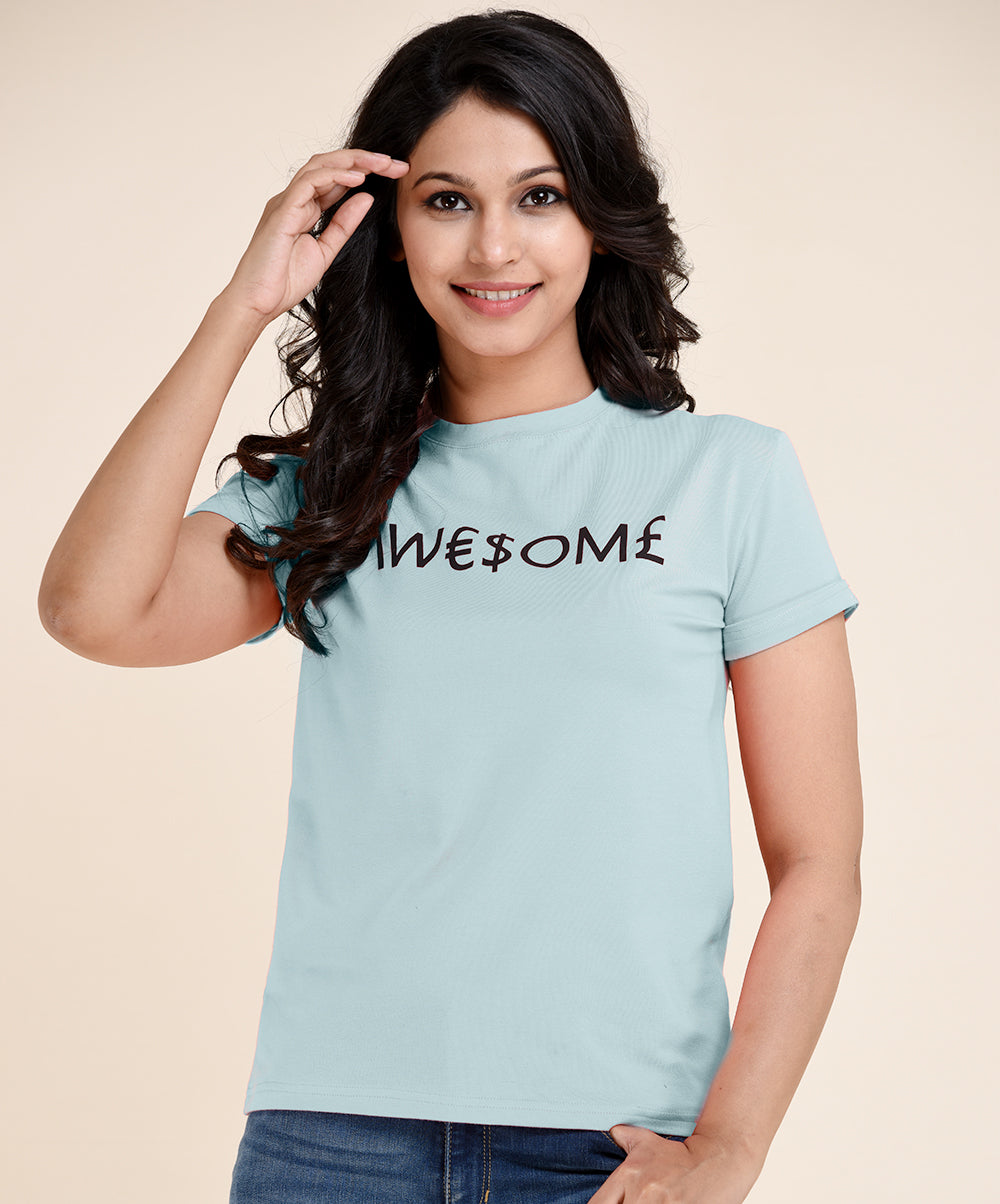 Mint AWESOME Printed Tee