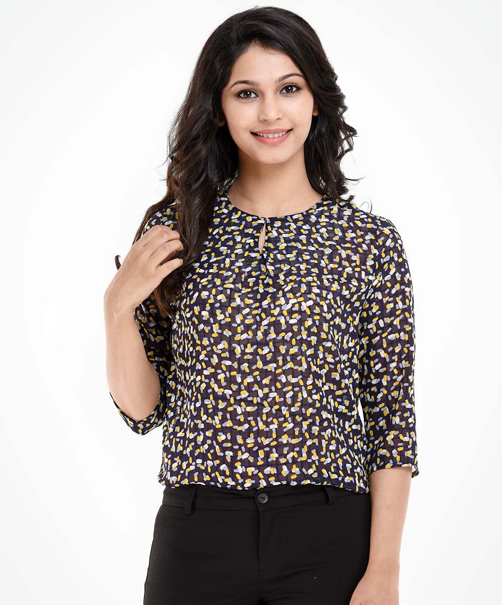 Kaylee Printed Work Wear Top