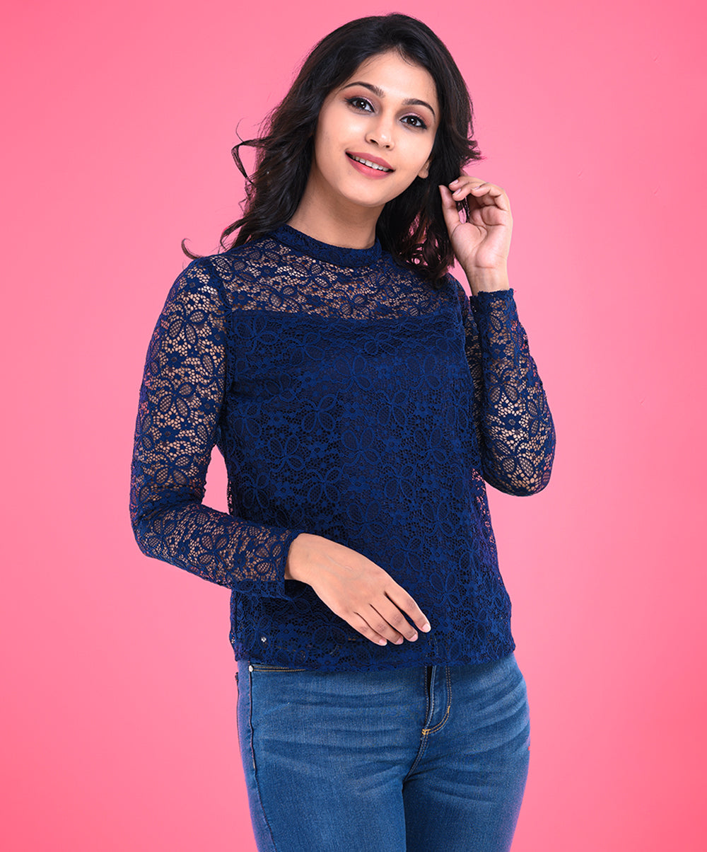 Emily Long Sleeve Lace Top