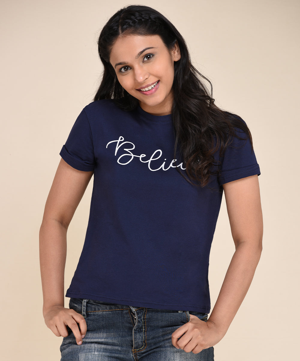 Navy Blue Believe T-shirt