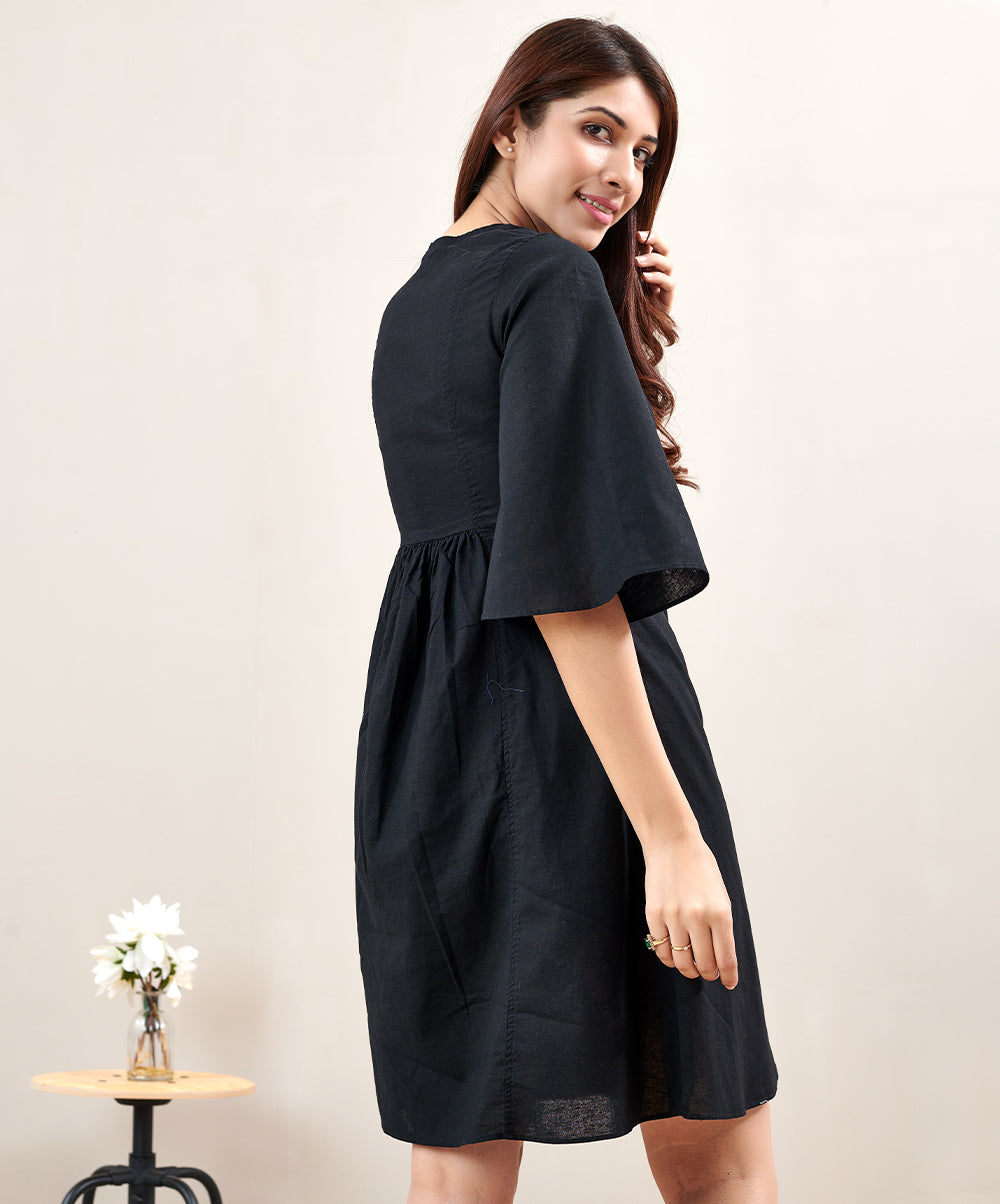 Linen Waist less Short Dress
