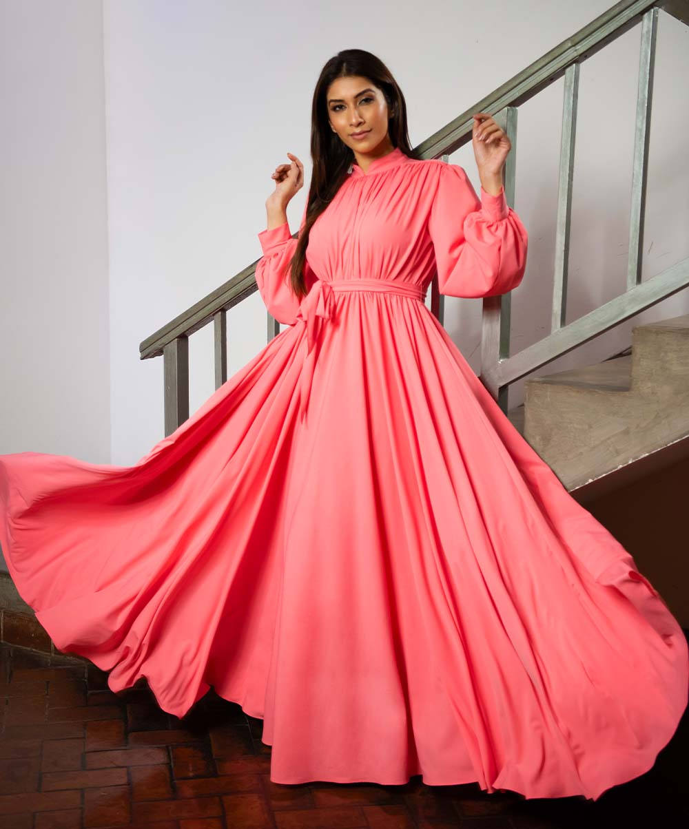 Bella Pink Maxi Dress