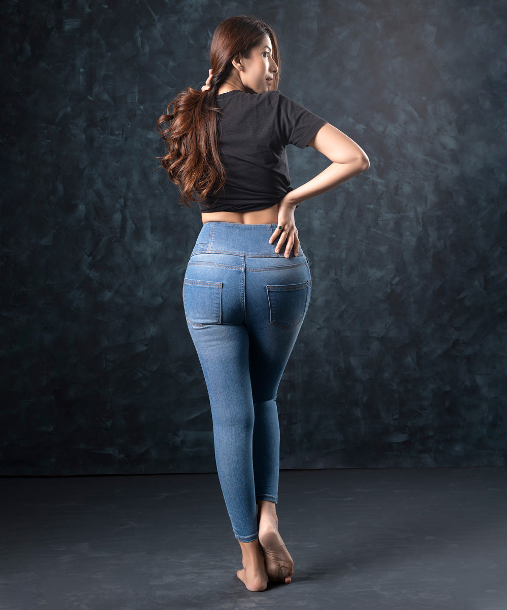 Sky Blue High Waist All Day Jean
