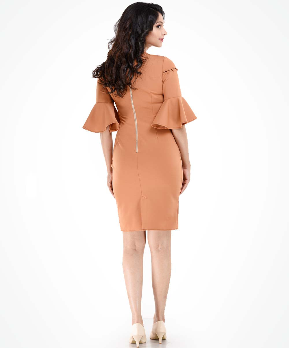 Carnelian Button Up Bodycon Dress