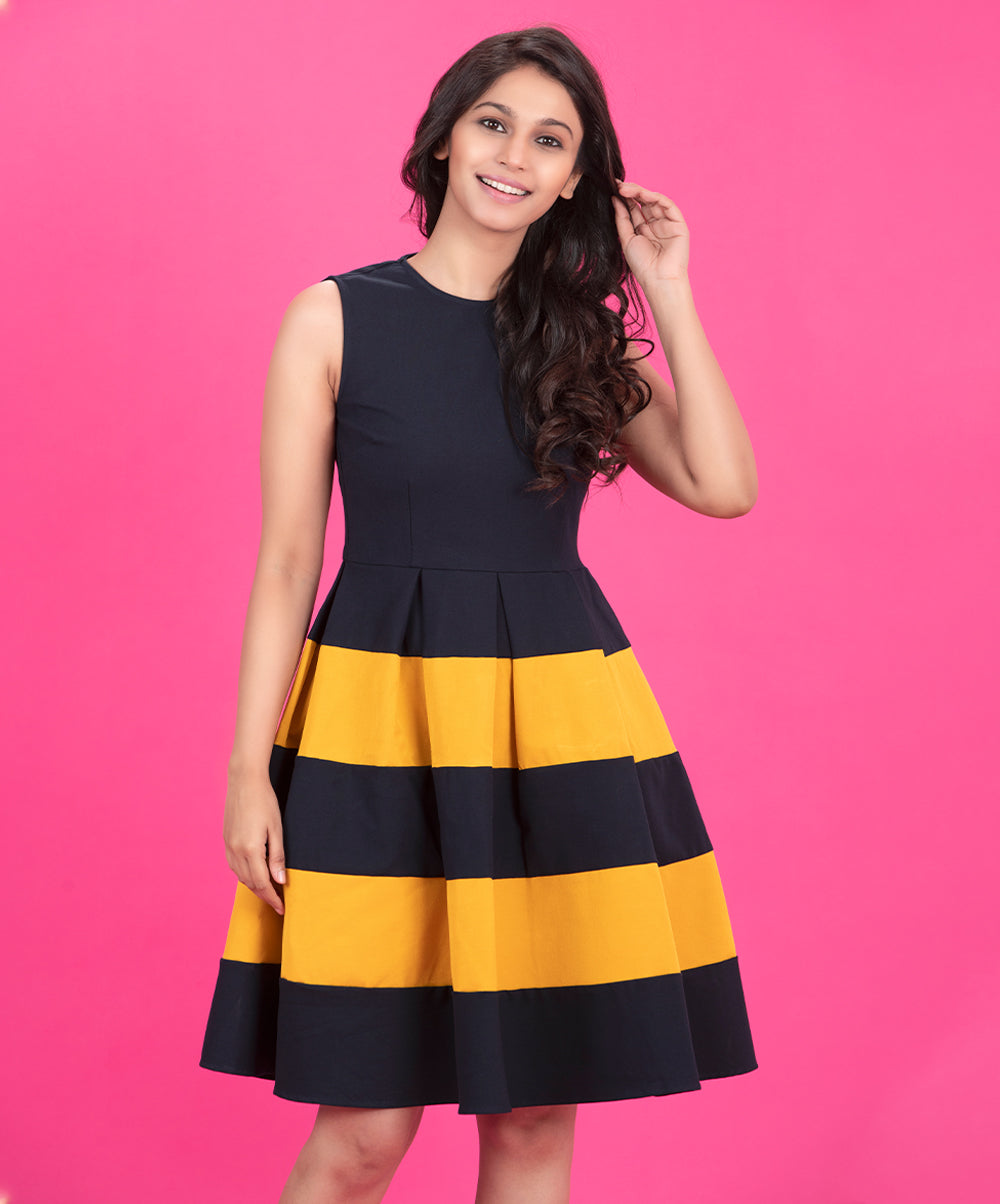 Two Toned Princess Skater Dress