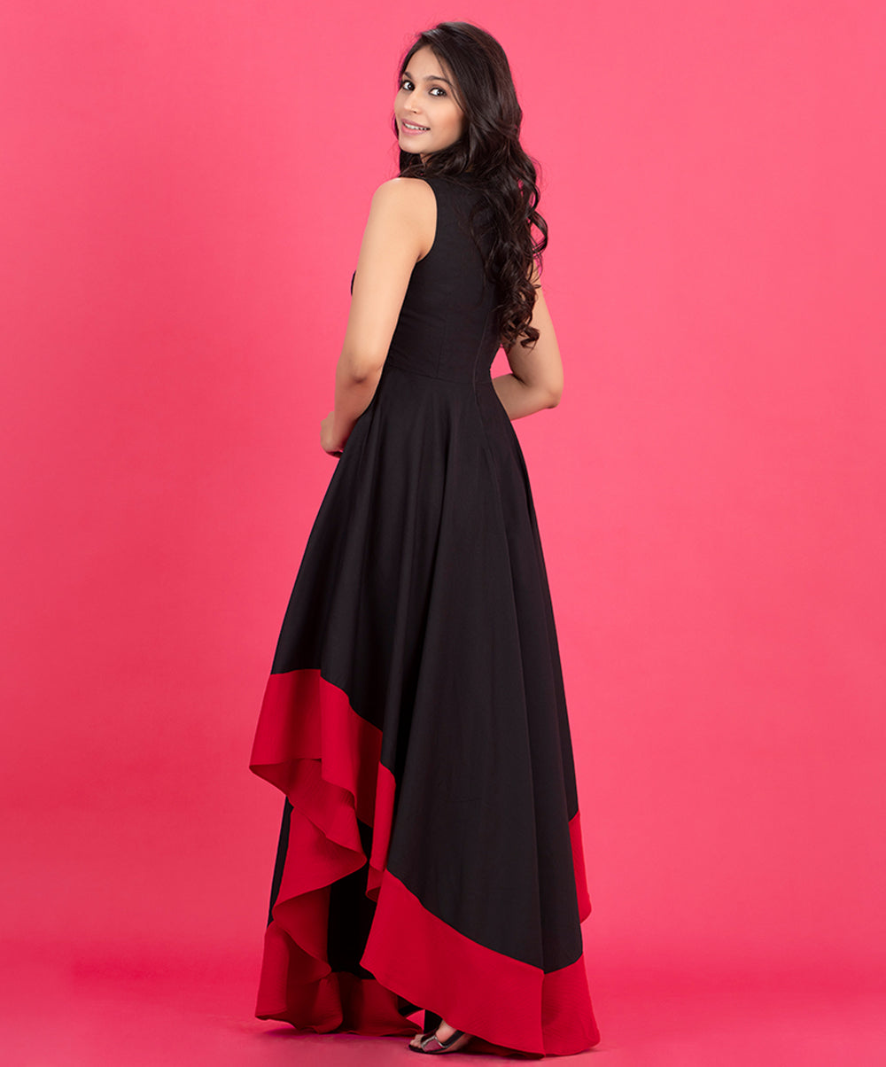 Side High Low Border Dress