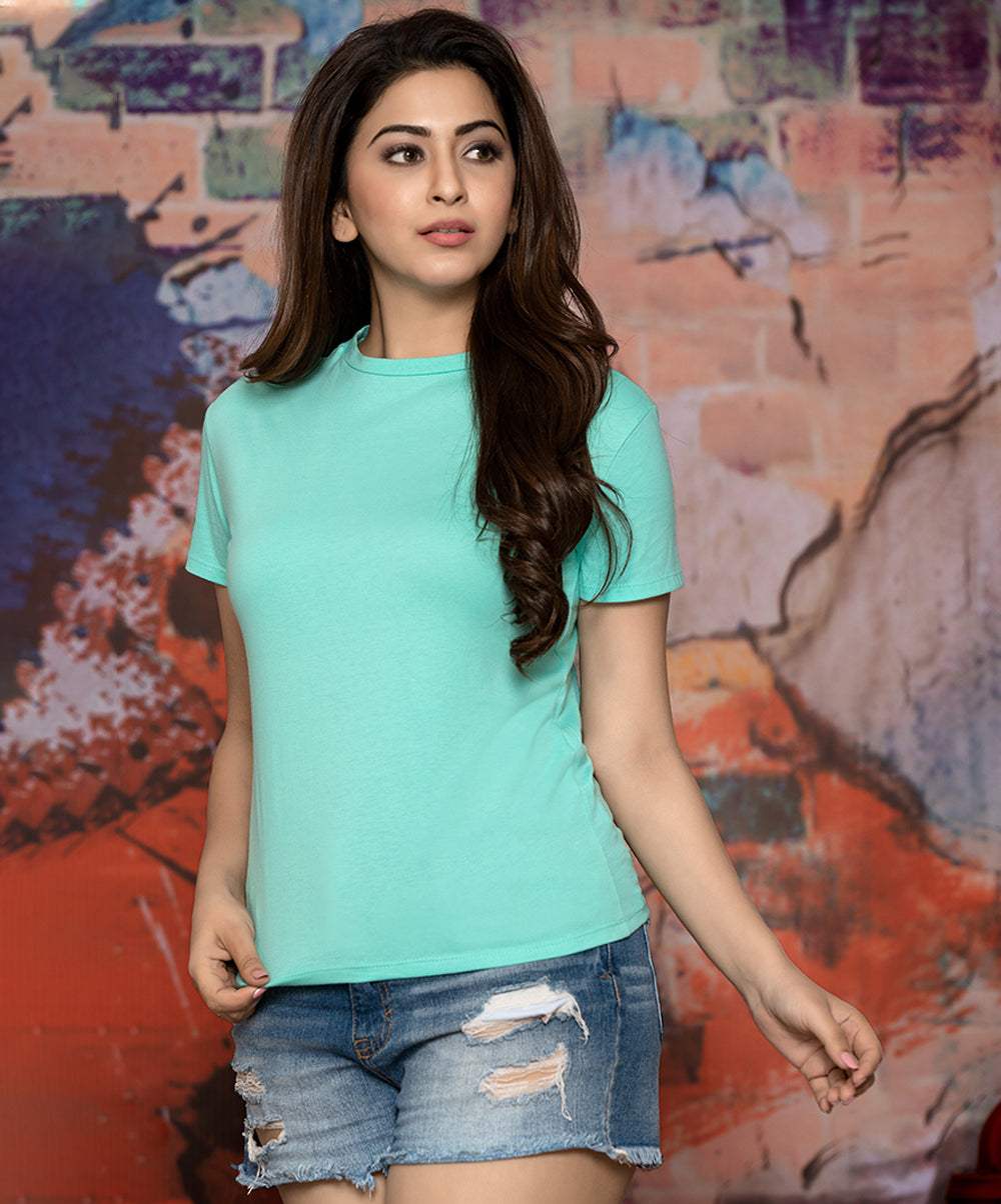 Mint Basic Crew Neck T-Shirt