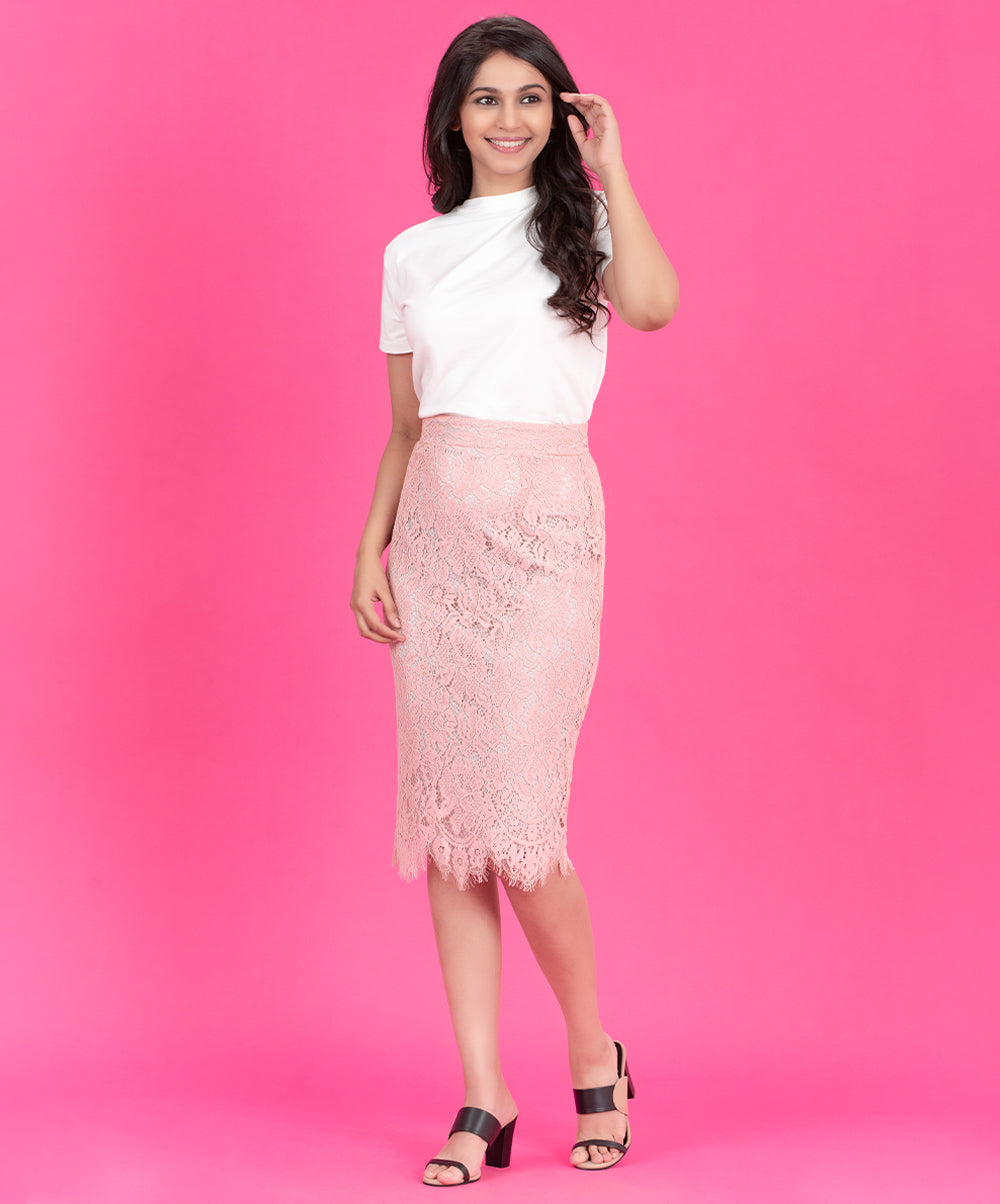 Lace Shift Skirt